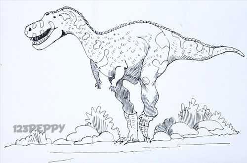 Abelisaurus Coloring Sheets