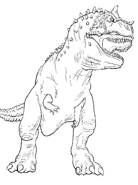 Carnotarusu Realistic Dinosaur Coloring