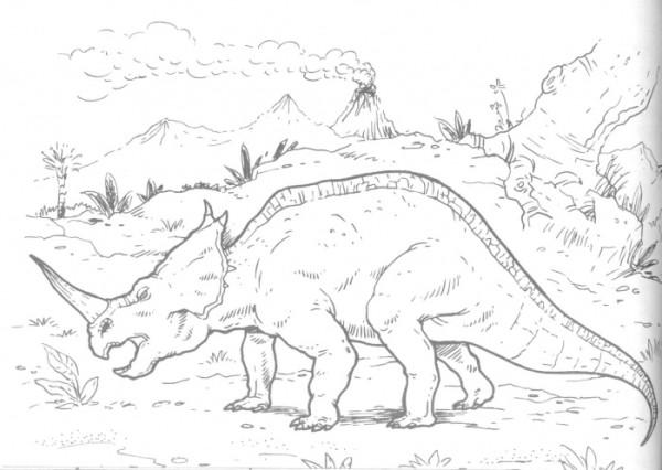 Centrosaurus Lambe Dinosaur coloring page