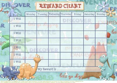 Free Printable dinosaurus chart