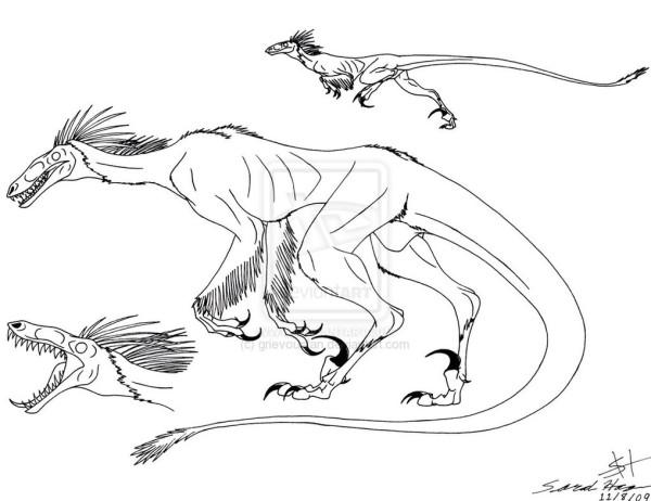 Utahraptor coloring sheet