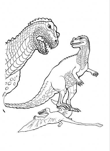 Ceratosaurus Dinosaur coloring page