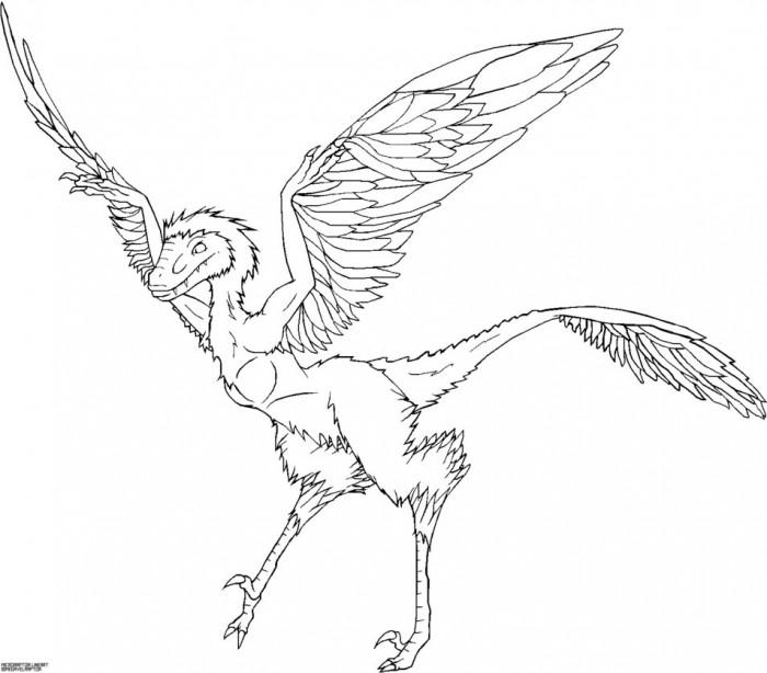 Detail Microraptor Coloring Page